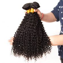 Afro Kinky Curly Hair Brazilian Hair Weave Bundles Gossip Brazilian Kinky Curly Human Hair Bundles Deal Non Remy Hair Extension