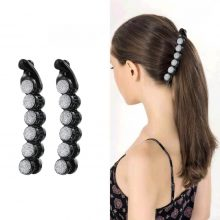M MISM Women Pearl Rhinestone Banana Hair Clips Claws for Lady Adult Hair Combs Fashion Elegant Party Barrettes Hair Accessories