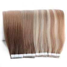 Neitsi 10PCS Remy Tape In Human Hair Extensions Double Drawn Adhesive Straight Hair Skin Weft 16