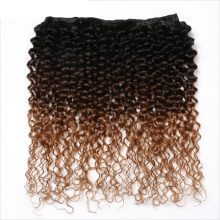 Spark Ombre Human Hair Afro Kinky Curly Brazilian Hair Weave Bundles 3 or 4 Bundles Deals Medium Ratio Remy Hair Extensions