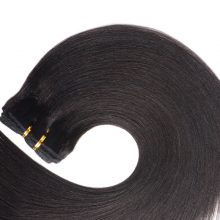 Light Yaki Human Hair Clip In Hair Extensions Full Head Clip Ins Brazilian Machine Made Remy Hair 14-22inch Natural Color