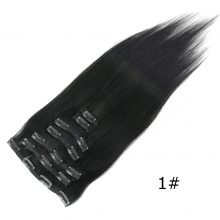 Isheeny Jet Black 7pcs/set Remy Clip In Full Head 14