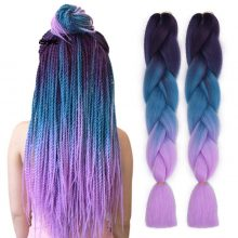 Spring sunshine Jumbo Braids Crochet Braiding Hair 24Inch Long Ombre Synthetic Braid Hair Extensions for Woman
