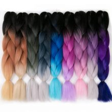 VERVES Braiding Hair 1 piece 24 inch Crochet Jumbo Braids 100g/piece Synthetic ombre Heat Resistant Fiber Hair Extensions pink
